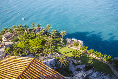 Famous, peñíscola village views from the castle of Papa Luna, Royalty Free Stock Photos