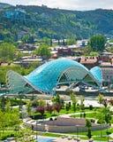 Famous Peace Bridge, Tbilisi, Georgia Royalty Free Stock Photo