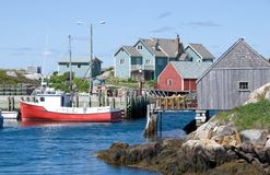Famous Peggy's Cove Royalty Free Stock Photography