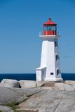 Famous Peggy's Cove Lighthouse Stock Photography