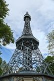 Prague Petrin tower, a replica of the Eiffel Tower Royalty Free Stock Images