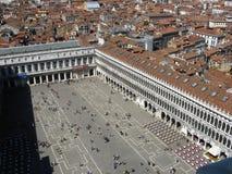 Famous Piazza de Marco in Venezia immagine stock libera da diritti