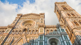 Famous Piazza del Duomo at sunset in Florence, Tuscany, Italy Royalty Free Stock Photography