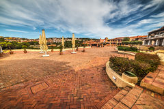 Famous Piazzetta in Porto Cervo Stock Images