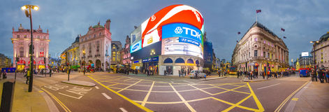 Famous Piccadilly Circus in London Royalty Free Stock Images