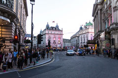 Famous Piccadilly Circus , one of major attraction of London, Royalty Free Stock Photos