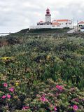 The famous and picturesque lighthouse of Cabo da Roca stock image