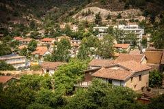 Famous picturesque Mountain Village resort of Kakopetria. Nicosi Stock Image