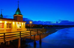 Famous pier of Ahlbeck, Germany, at night Royalty Free Stock Photo