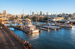 Famous pier 39 at the Fisherman's Wharf in San Francisco. USA Royalty Free Stock Images