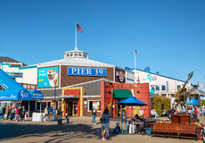 Famous pier 39 at Port of San Francisco Royalty Free Stock Photos