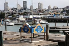 The famous Pier 39 at San Francisco Royalty Free Stock Photos
