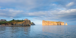 The famous pierced rock of Perce in Canada Royalty Free Stock Photo