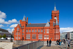 The famous Pierhead Building, Cardiff,Wales Stock Image