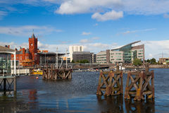 The famous Pierhead Building, Cardiff,Wales Royalty Free Stock Images