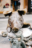 Famous pig sculpture on Adelaide's Rundle Mall Stock Photos