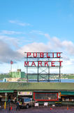 Famous Pike Place market sign in Seattle Royalty Free Stock Photo