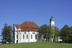 Famous Pilgrimage Wieskirche, Bavaria Royalty Free Stock Image