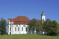 Famous Pilgrimage Wieskirche, Bavaria Stock Photography