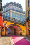 The famous Pink street in Lisbon, Portugal Royalty Free Stock Image