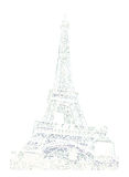 Famous pisan tower rendered with engraving effects Royalty Free Stock Photos