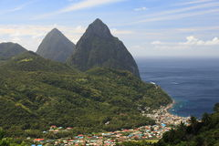 Famous Pitons Stock Image