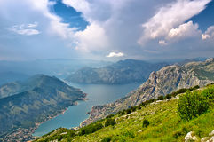 The famous Piva Canyon with its fantastic reservoir. National pa Royalty Free Stock Photos
