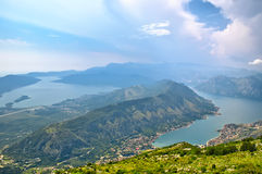 The famous Piva Canyon with its fantastic reservoir. National pa Royalty Free Stock Photo