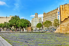 Famous Placa de Catalunia Στοκ Εικόνες