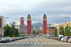 Famous Placa de Espanya Στοκ Φωτογραφίες