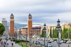 Famous Placa de Espanya Στοκ φωτογραφία με δικαίωμα ελεύθερης χρήσης