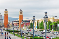 Famous Placa de Espanya Στοκ Εικόνες