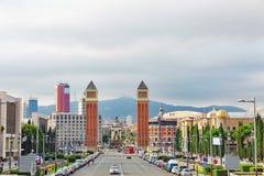 Famous Placa De Espanya Fotografia Stock