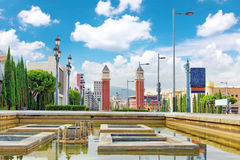 Famous   Placa De Espanya Royalty Free Stock Images