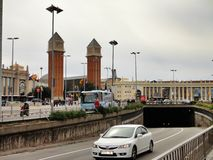 Famous Placa Espanya in Barcelona. Royalty Free Stock Photo