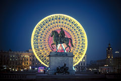 Famous Place Bellecour Stock Photos