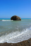 Famous place with Rock of Aphrodite in Cyprus Stock Photo