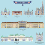 Famous Places in Austria Stock Image