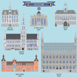 Famous Places in Belgium Stock Image