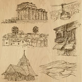Famous places and Buildings no. 20. Famous places and Buildings (vector pack no.20). Collection of an hand drawn illustrations (originals, no tracing). Each stock illustration