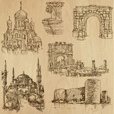 Famous places and Buildings no. 21. Famous places and Buildings (vector pack no.21). Collection of an hand drawn illustrations (originals, no tracing). Each royalty free illustration