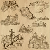 Famous places and Buildings no. 25. Famous places and Buildings (vector pack no.25). Collection of an hand drawn illustrations (originals, no tracing). Each vector illustration