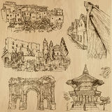 Famous places and Buildings no. 24. Famous places and Buildings (vector pack no.24). Collection of an hand drawn illustrations (originals, no tracing). Each vector illustration