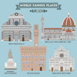 Famous Places of Florence Royalty Free Stock Photography