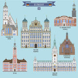 Famous Places in Germany Stock Image