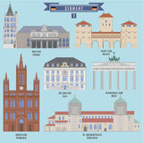 Famous Places in Germany Stock Images