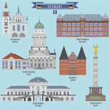 Famous Places in Germany Royalty Free Stock Images