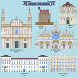 Famous Places in Italy Royalty Free Stock Photos