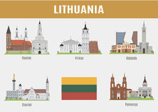 Famous Places Lithuanian cities Stock Photo