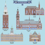 Famous Places in Netherlands Royalty Free Stock Photos